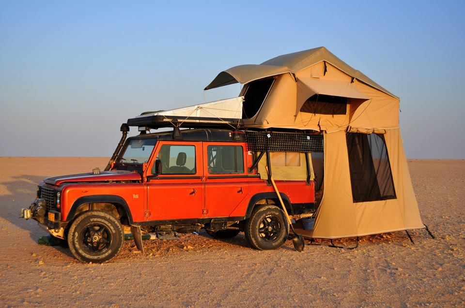 Defender Roof Tent & Tentco Rooftop Tent On Land Rover ...
