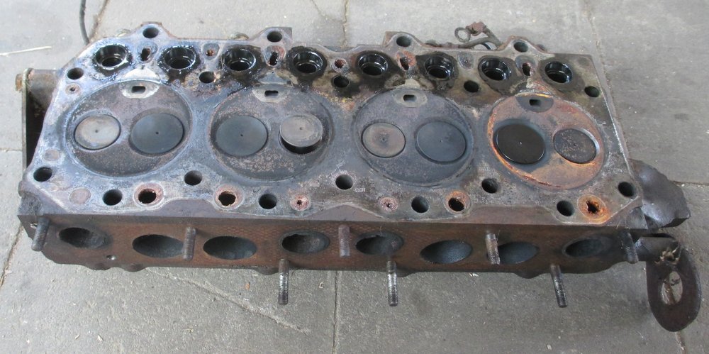 1965 series 2a station wagon head removed at least one valve bent stuck1.JPG