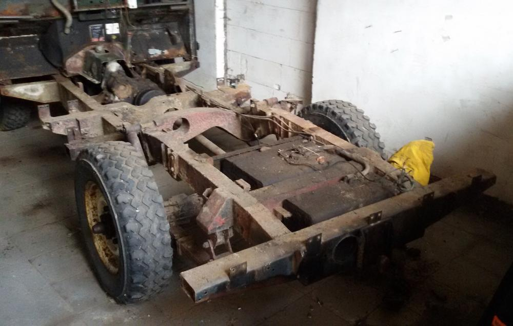 1965 series 2a station wagon rear end of the chassis now in view just the bulhead left.jpg