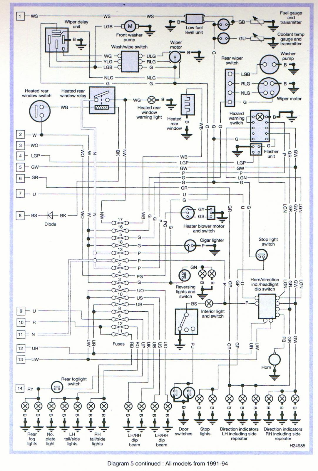 Wiring Diagram For Rover 100 Best Secret Two Doorbells 1992 Defender 110 32 Channel 6 D S Ph11 Rr Amp A