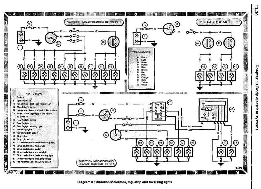 wiring diagram landyzone land rover forum direction indicators fog stop reversing lights jpg
