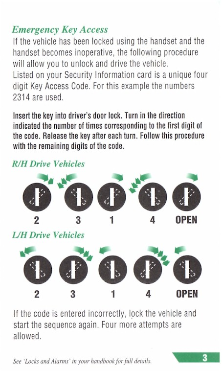 EKA Lock out procedure for 1999 P38 | LandyZone - Land Rover Forum
