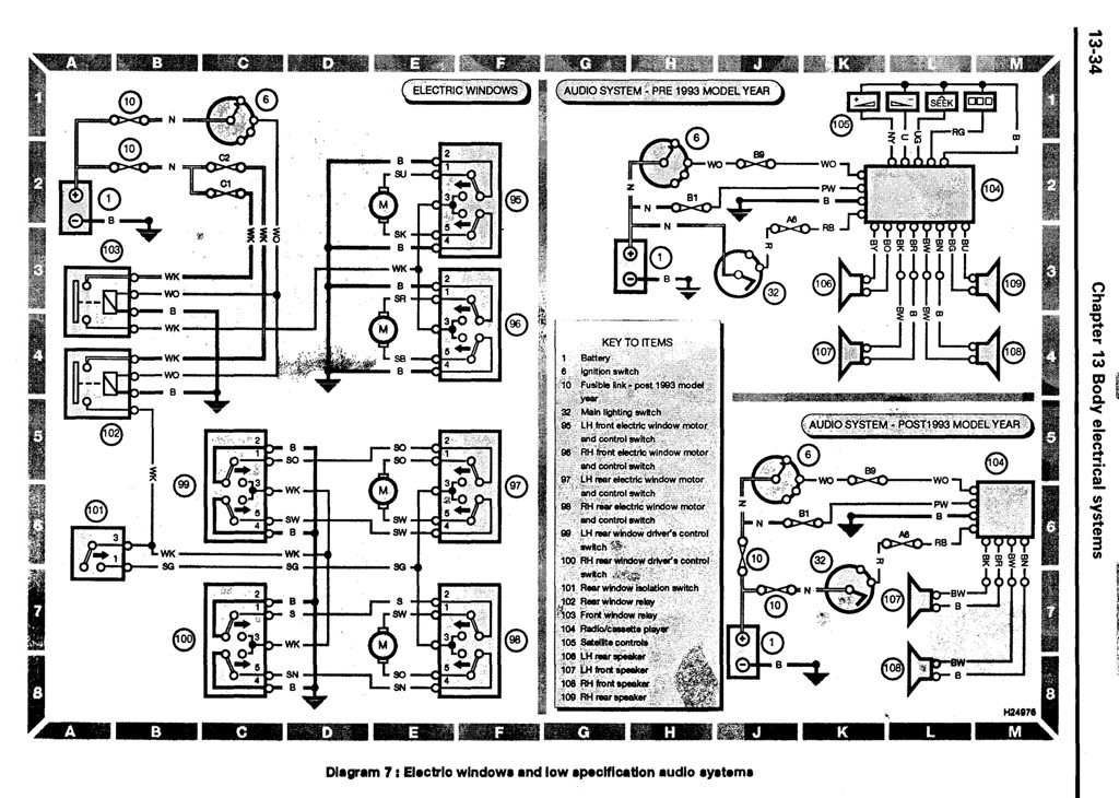 wiring diagram landyzone land rover forum electric windows audio system jpg