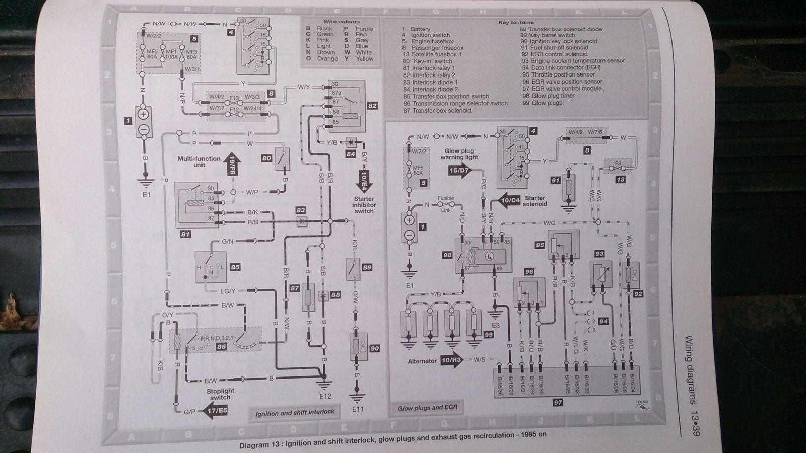 glow plug circuit landyzone land rover forum 2002 land rover wiring-diagram land rover discovery glow plug wiring diagram #1