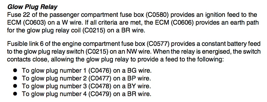 freelander td4 glow plugs not operating landyzone land rover forum freelander td4 fuse box diagram at crackthecode.co