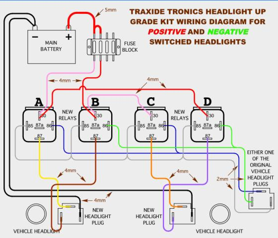 headlight wiring upgrade landyzone land rover forum Land Rover Headlight Wiring