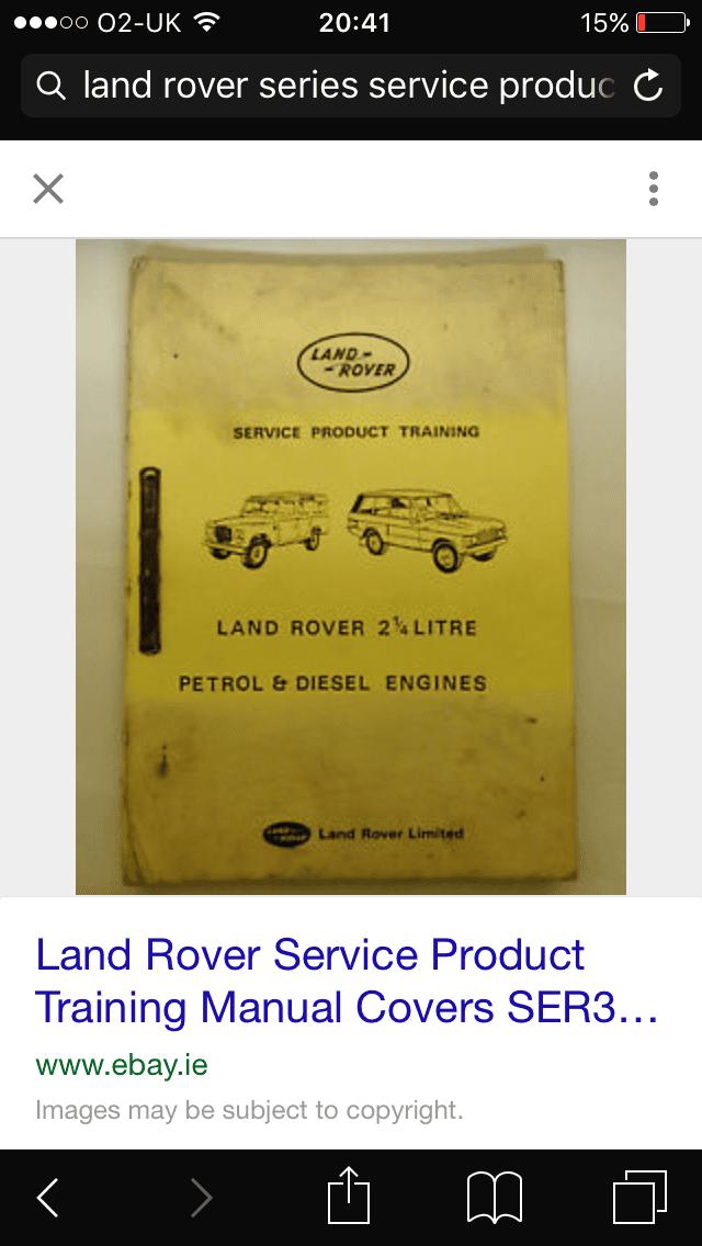 land rover series 1 workshop manual pdf