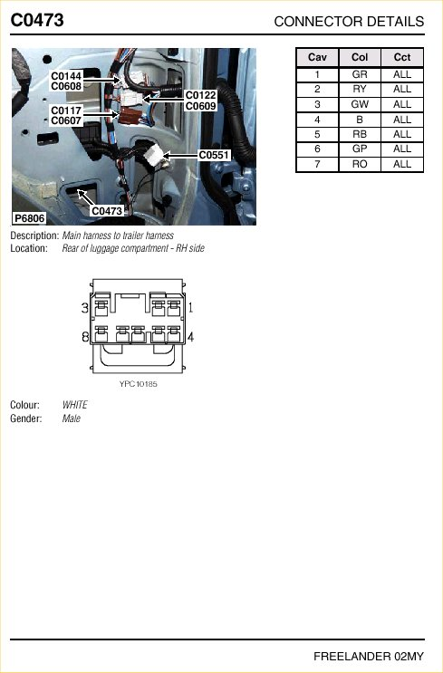 tow bar electrics landyzone land rover forum freelander 2 tow bar wiring diagram at webbmarketing.co