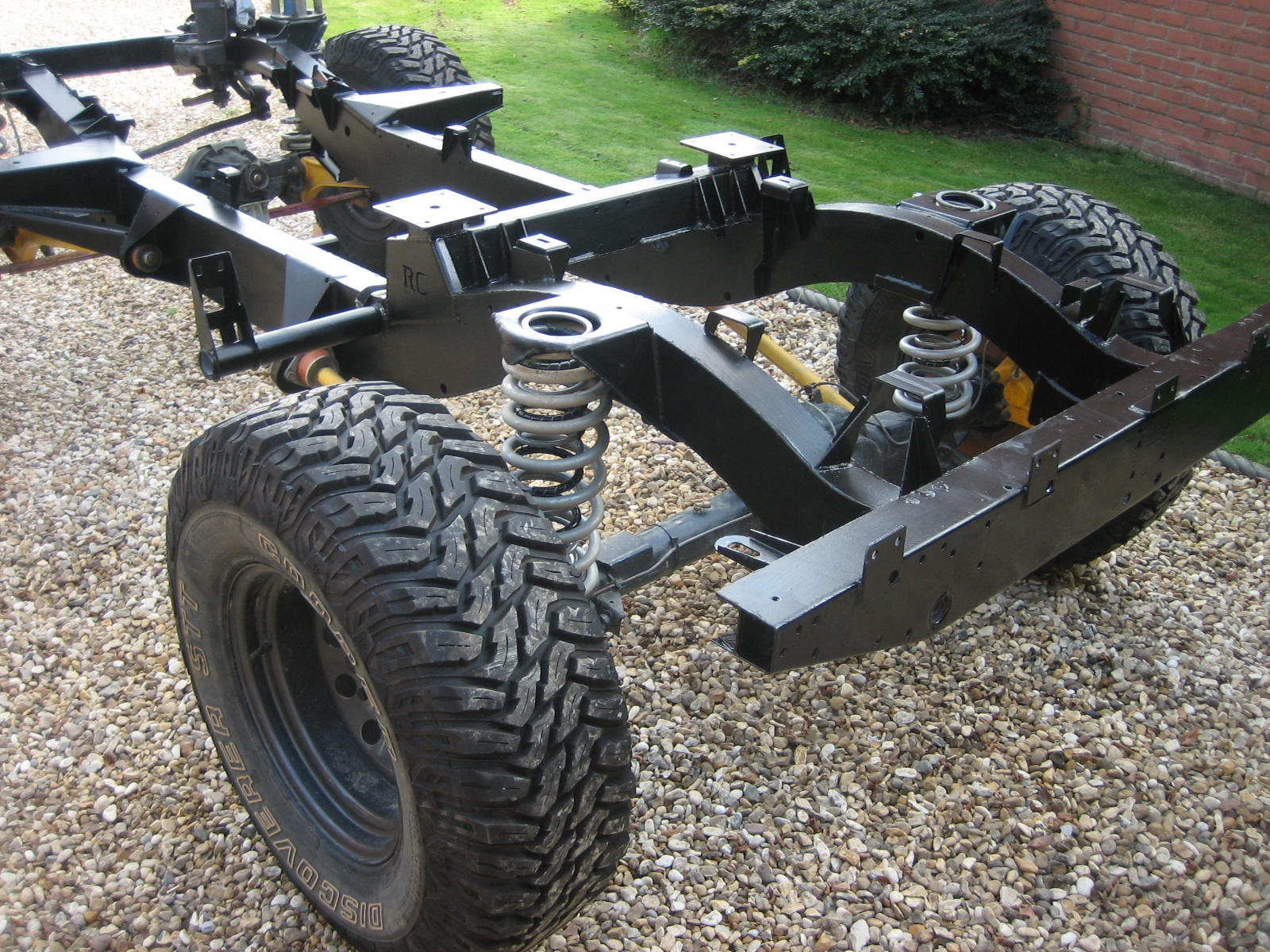 New galvanised chassis what to do
