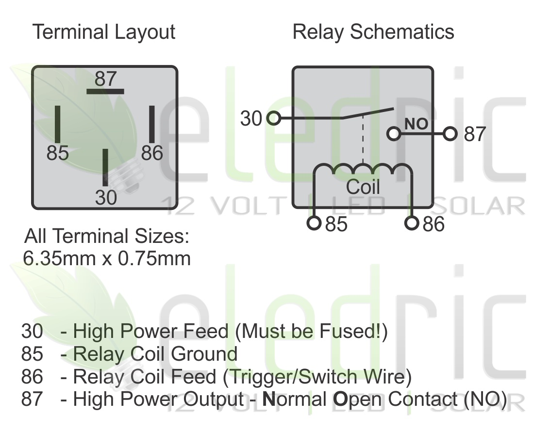 wiring diagram for 5 prong relay wiring image 12v 5 pin relay wiring diagram jodebal com on wiring diagram for 5 prong relay