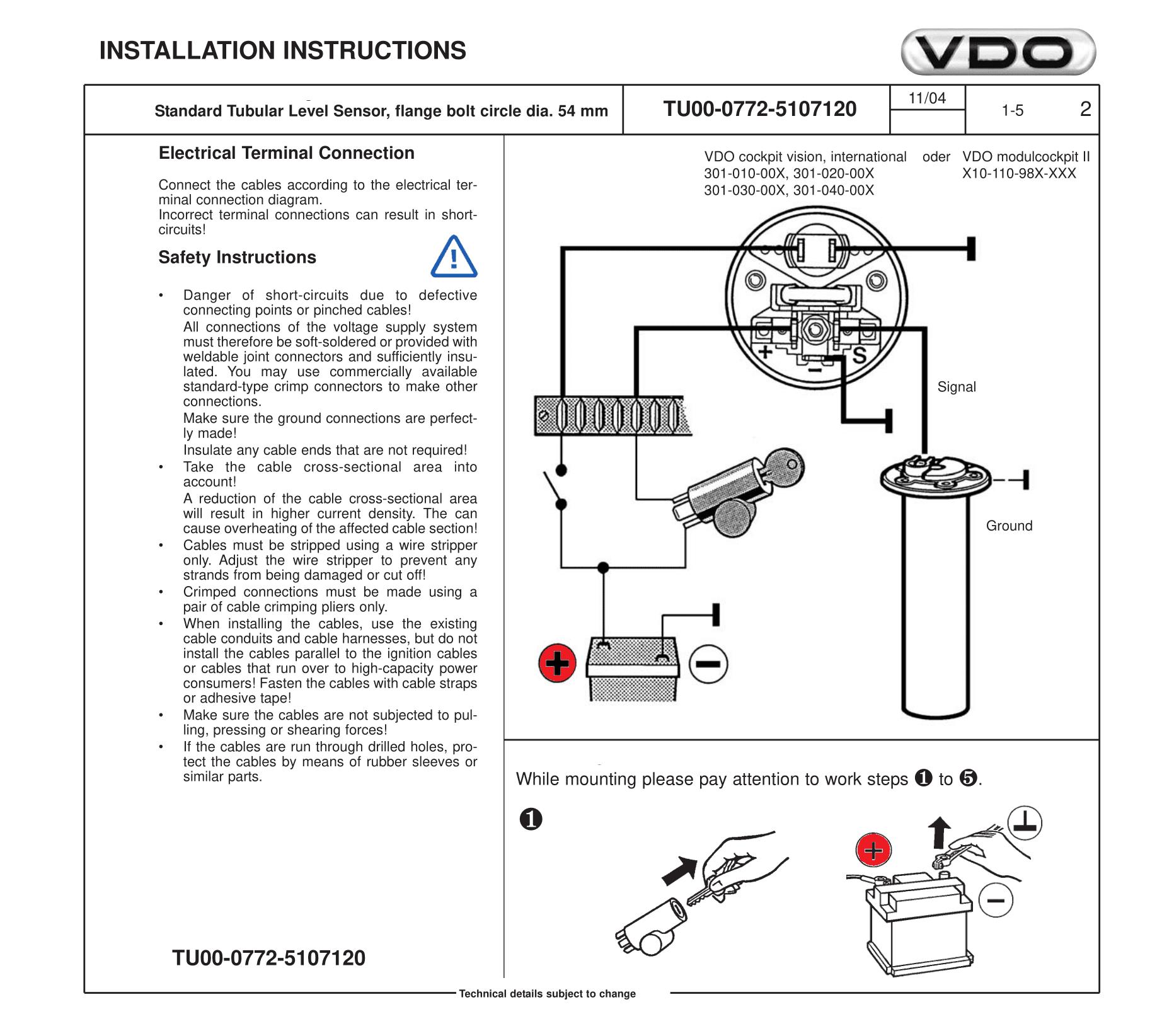 vdo gauge wiring diagram voltage vdo fuel gauge wiring e4 wiring diagram  vdo fuel gauge wiring e4 wiring diagram