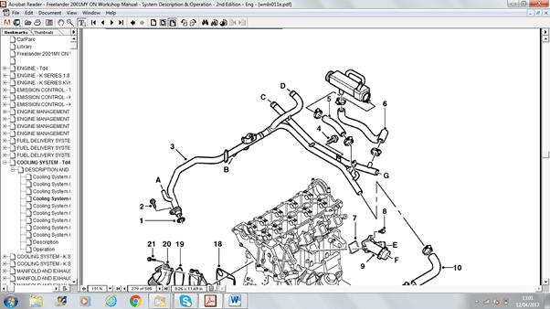 5 7 egr valve location