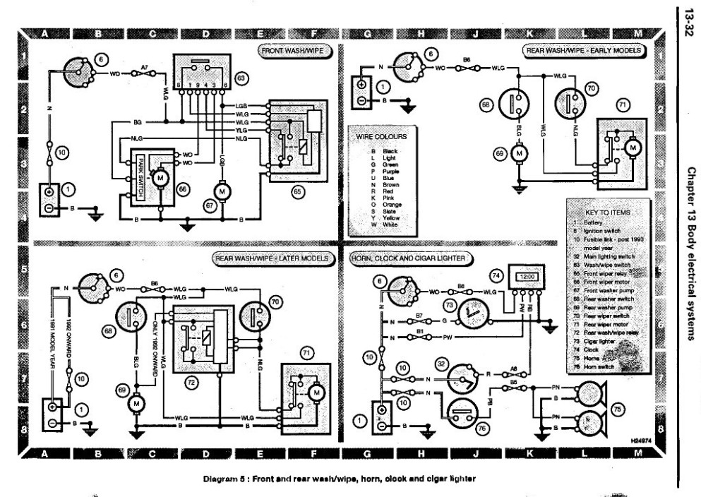 wiring diagram landyzone land rover forum wash wipe horn clock cigar lighter jpg